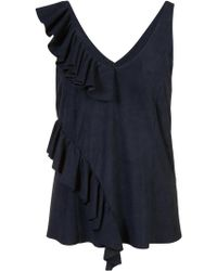 DROMe - Ruffled Tank Top - Lyst