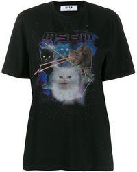 MSGM T-Shirt mit Katze