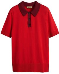 Burberry - Two-tone Knitted Cotton Polo Shirt - Lyst