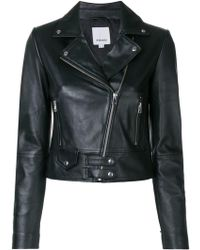 Pinko - Fitted Biker Jacket - Lyst