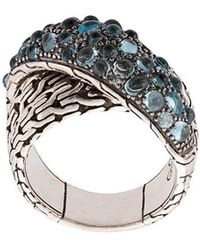 John Hardy - Classic Chain Overlap Ring - Lyst