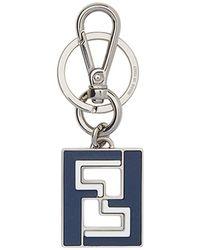 Fendi - Ff Logo Keyring - Lyst