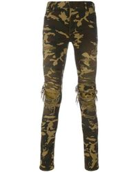 Balmain - Distressed Camouflage Trousers - Lyst