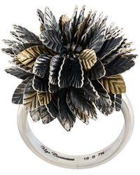Ugo Cacciatori - 3d Leaf Detail Ring - Lyst