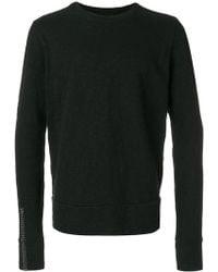 Thom Krom - Stitch Sleeve Sweatshirt - Lyst