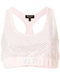 Juicy Couture - Swarovski Embellished Velour Crop Top - Lyst