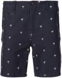 Cuisse De Grenouille - Palm Print Bermuda Shorts - Lyst