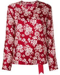 The Gigi - Floral Print Blouse - Lyst
