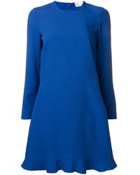 RED Valentino バックリボン ドレス - ブルー