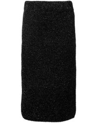 Laneus - Glitter Pencil Skirt - Lyst