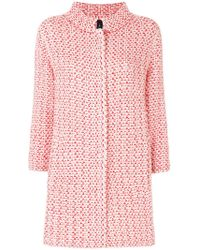 Marc Cain - Two-tone Knitted Coat - Lyst
