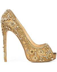 Marchesa - Zapatos de tacón Rose con apliques - Lyst