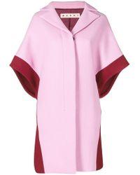 Marni - Contrast Short-sleeve Coat - Lyst