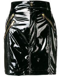 Versace Jeans - High Waisted Mini Skirt - Lyst
