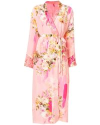 Antonio Marras - Floral Wrap Coat - Lyst