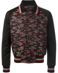 Lanvin - Embroidered Crane Bomber Jacket - Lyst