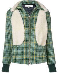 Golden Goose Deluxe Brand - Houndstooth Zipped Jacket - Lyst