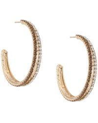 Rosantica - Double Embellished Hoop Earrings - Lyst