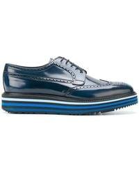 Prada - Platform Brogue Shoes - Lyst