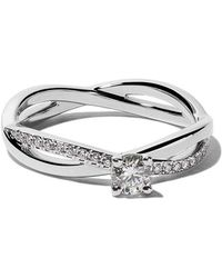 De Beers - Platinum My First Infinity Solitaire Diamond Ring - Lyst