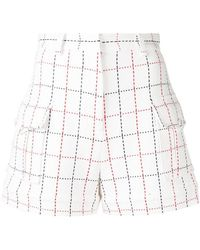 MSGM - Large-check Shorts - Lyst