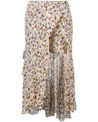 Chloé - Floral Print Asymmetric Skirt - Lyst