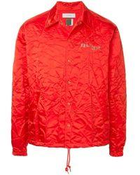 Facetasm - Embroidered Logo Crinkle Jacket - Lyst