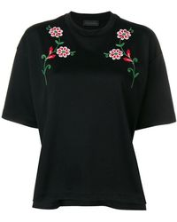 Diesel Black Gold - Flower Embroidery T-shirt - Lyst