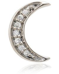 Andrea Fohrman - 14k Rose Gold Crescent Moon Diamond Earring - Lyst
