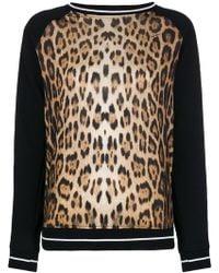 Roberto Cavalli - Leopard Print Sweatshirt - Lyst