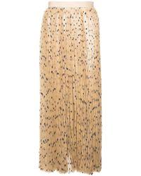 Khaite - Polka Dot Pleated Skirt - Lyst