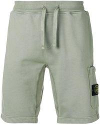 Stone Island - Elasticated Waist Shorts - Lyst