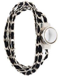 Camila Klein - Suede Details Chain Bracelet - Lyst