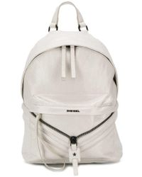 DIESEL - Coated Leather Patched Backpack - Lyst