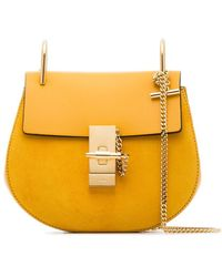 Chloé - Yellow Drew Suede Leather Shoulder Bag - Lyst