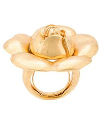 Oscar de la Renta - Gardenia Flower Ring - Lyst