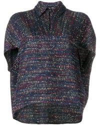 Talbot Runhof - Sparkle Tweed Top - Lyst