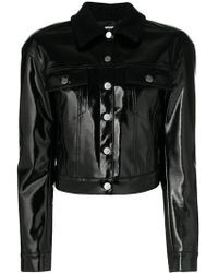 Pinko - Vernished Cropped Jacket - Lyst