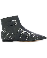 RED Valentino - Studded Pointed Toe Boots - Lyst