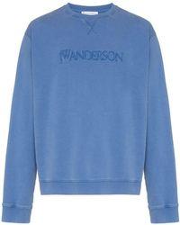 JW Anderson - Sweatshirt mit Logo-Stickerei - Lyst