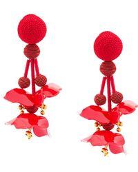 Oscar de la Renta - Falling Flower Earrings - Lyst