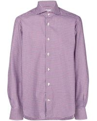 Kiton - Checked Button-down Shirt - Lyst