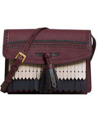 Burberry | Brogue And Fringe Detail Crossbody Bag | Lyst