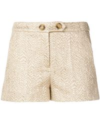 RED Valentino - Short Brocade Shorts - Lyst