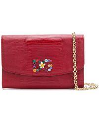2c0ac519ea6a Lyst - Dolce   Gabbana Crossbody Wallet On Chain in Pink