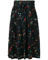 PS by Paul Smith - Colour-block Flared Skirt - Lyst