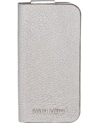 Miu Miu Madras Iphone 8 Hoesje - Metallic