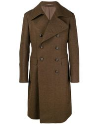 Tagliatore - Double Breasted Long Coat - Lyst