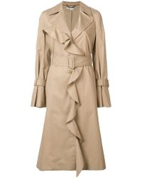 Stella McCartney - Ruffled Cotton-twill Trench Coat - Lyst