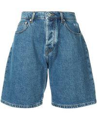 MSGM - Denim Bermuda Shorts - Lyst
